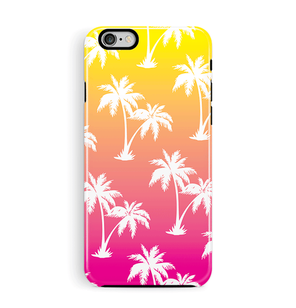 Pink Palm Tree iPhone and Samsung Case