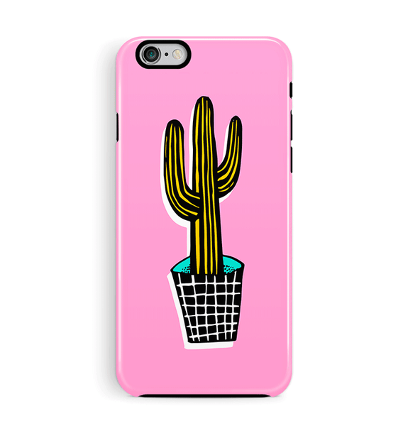 Cactus iPhone 6 6S Case Tough Pink