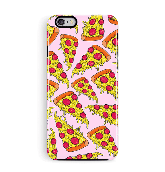 Pizza iPhone Phone Case in Pink