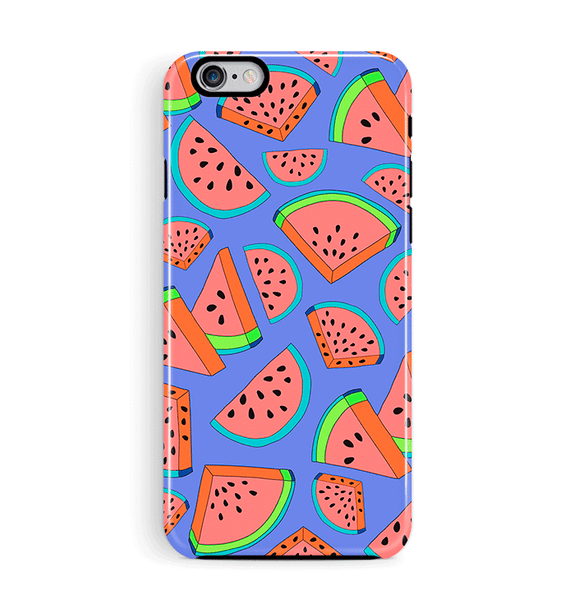 Watermelon purple iPhone and Samsung Phone Case