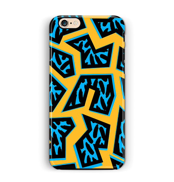 African iPhone 6 6S Case Yellow Blue