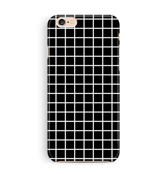 Tough Black iPhone 6 6S Case Grid Pattern