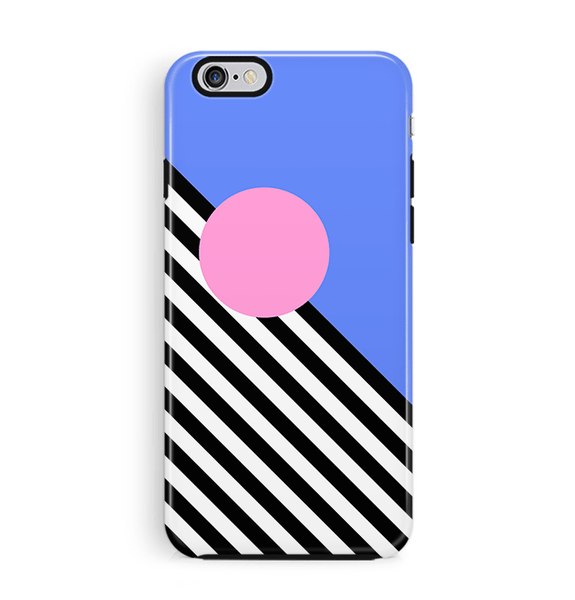 Memphis Art iPhone 6 6S Case Blue Pink
