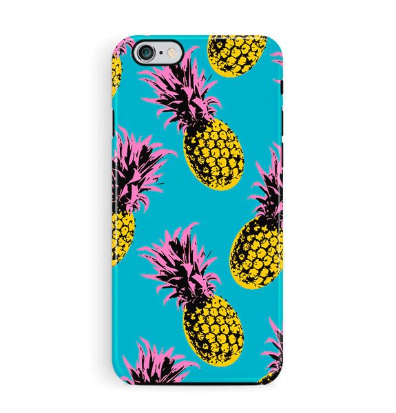 Turquoise Pineapples iPhone 6 6S Case Tough