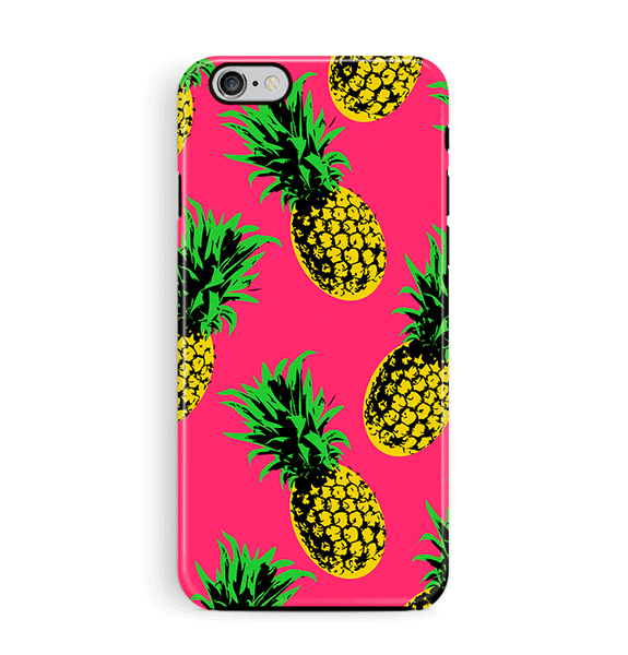 Pineapple iPhone 6 6S Case Tough Pink