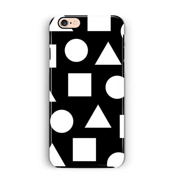 Shapes iPhone 6 6S Case Black & White