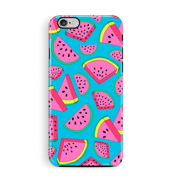 Watermelon iPhone 6 6S Case Tough Blue