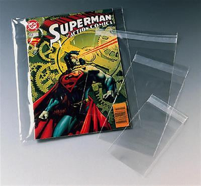 "Protective plastic bag magazine comic protector dust cover self seal 7"" x 10.5"""