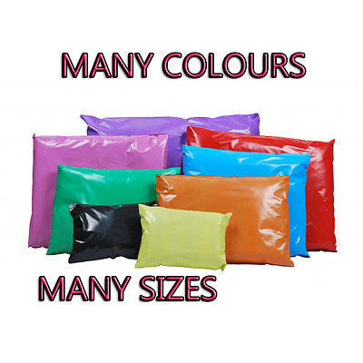 Bags Plastic Coloured Poly Polythene Strong Self Seal Postal Mailing Courier