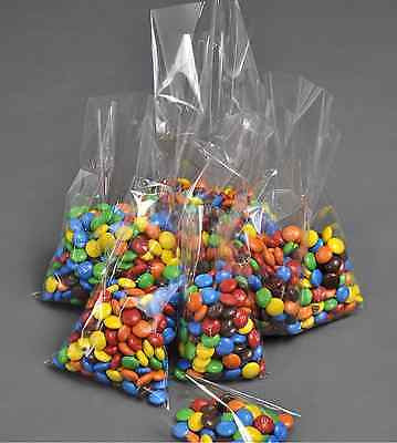 "cellophane cello display bags cake pops sweets lollipops sweets  100 5"" x 7.5"""