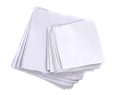 Strung White Paper Bags Kraft for Food or Sandwiches 1000 Multiple SIzes