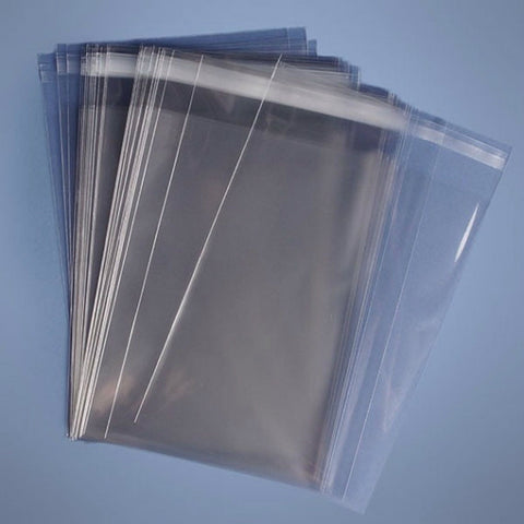 Cellophane Display Bags 75mm x 65mm + 30mm Peel and Seal Flap