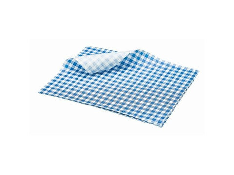 Gingham Grease-proof Paper Sheets For Catering Butchers Restaurants