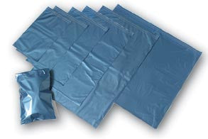 Metallic Blue Plastic Polythene Mailing Bags