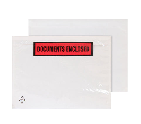 Documents Enclosed Printed Self Adhesive Notice Various Sizes and Quantities