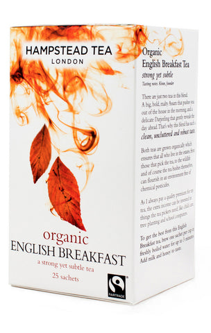 Thé English Breakfast bio en sachet - Hampstead Tea épicerie indienne