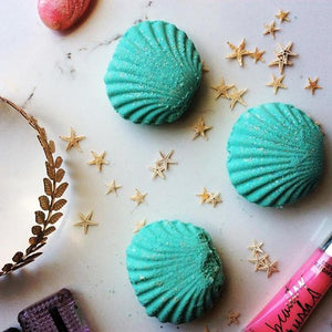 Mermaid clam shell bathbombs ready!