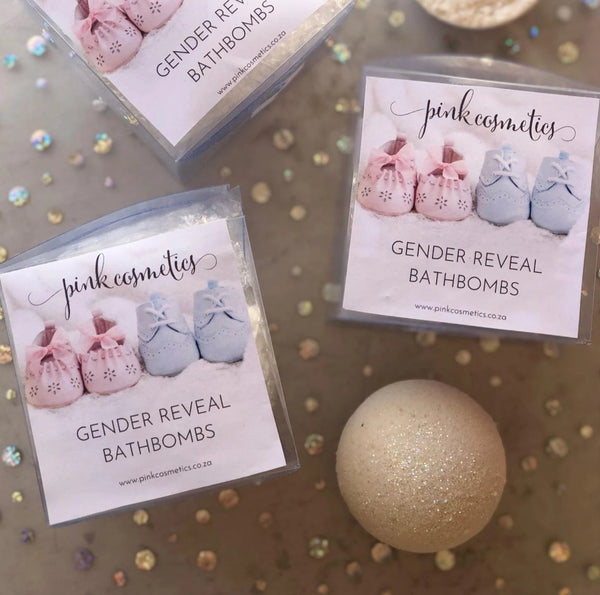 Gender reveal bathbombs