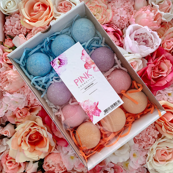 Box of Assorted Bath Bombs - 12 Bombs