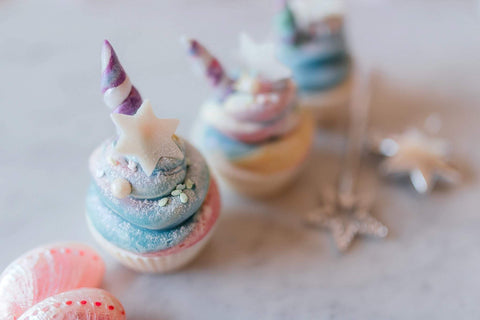Unicorn Dreams soap cupcakes