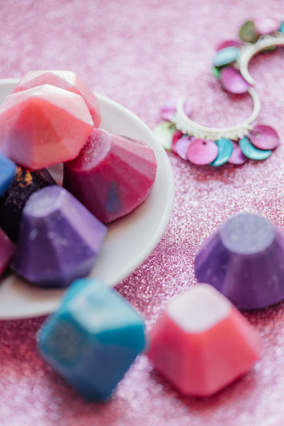 Pink bath-Soap jewels handcrafted soap