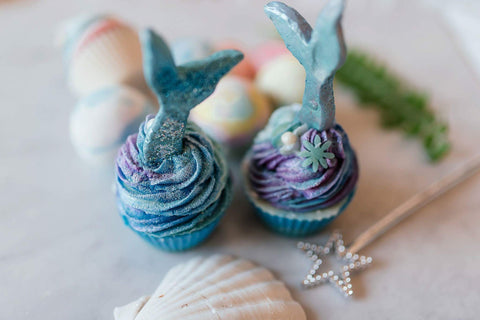 Pink bath- Mermaid Soap Cupcakes