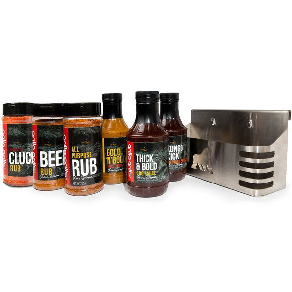 Sauce & Rub BBQ Caddy Set