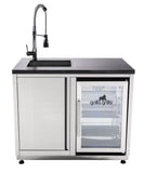 Grilla Sink and Refrigerator Outdoor Kitchen Cabinet