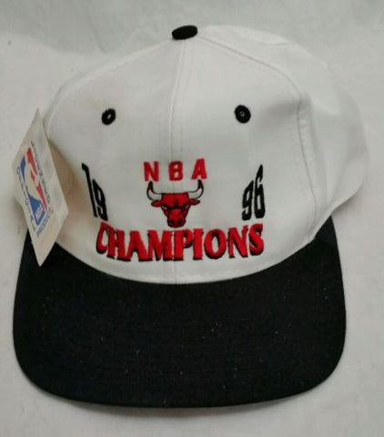 Snapback Hat Chicago Bulls 1996 NBA Champions Vintage Basketball Cap with Tags!! - Odd MoFo