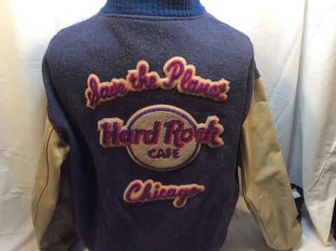Vintage Hard Rock Cafe Chicago Varsity Jacket Large Wool Lined L