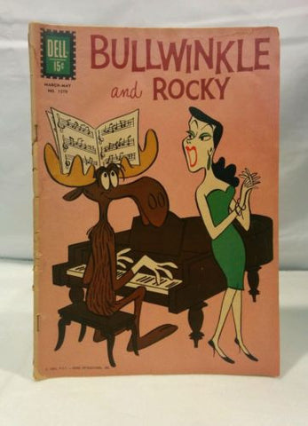 Bullwinkle and Rocky Four-Color 1270 (#1) (Dell, 1962) Good Condition Comic Book - Odd MoFo