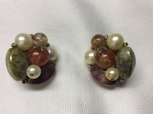 True Vintage Trifari Clip On Earrings or Pins - Signed - 1940s to 1960s