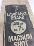 LAWRENCE BRAND CANVAS BAGS  25LBS - NO. 7 1/2 SHOT -  EMPTY SHOT BAGS - Odd MoFo