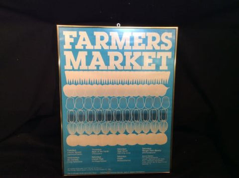 80s City of Chicago Farmers Market Poster  (Illinois) - Odd MoFo