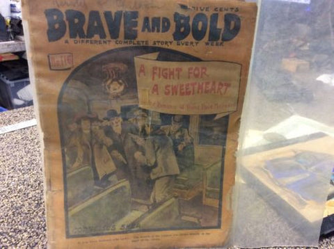 Antique 1905 Dime Novel - Brave And Bold #116 - A Fight For Sweetheart - Odd MoFo