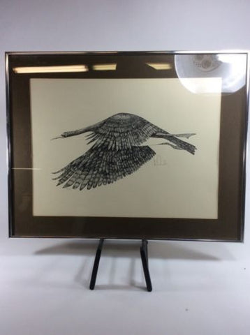 Vintage Bill McCauley Limited Edition Framed Art Lithograph Bird Goose