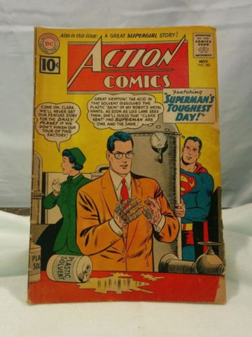 Vintage Action Comics #282 (Nov 1961, DC) Good Condition
