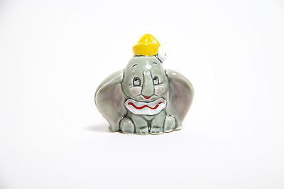 "Vintage Disney Dumbo Elephant Porcelain Figurine 2.5"" Tall - Japan Free Shipping"