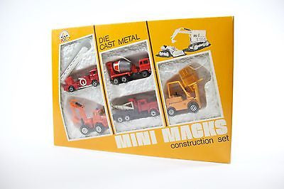 Vintage Zee Toys Mini Macks Construction Set 21590 Die Cast 1981 New In Box