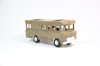 VINTAGE ORIGINAL 1970'S TOOTSIETOY RV CAMPER WINNEBAGO BROWN RV NICE!
