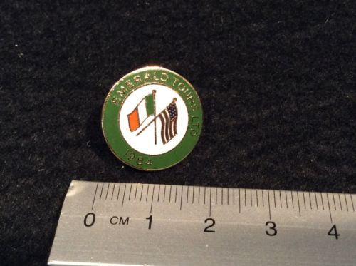 Emerald Tours 1984 Metal Lapel Pin / Pinback - Odd MoFo