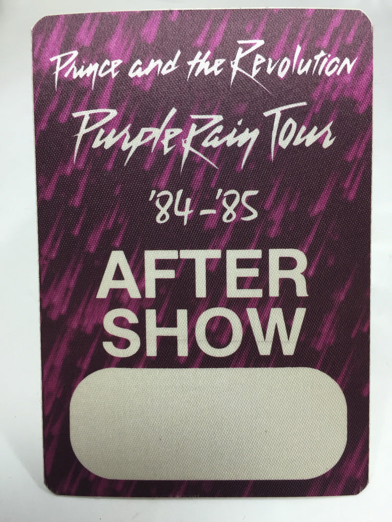 Prince Purple Rain Tour 1985-86 Backstage Pass After Show - Odd MoFo