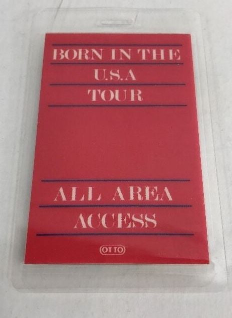 BRUCE SPRINGSTEEN 1984 BORN IN THE USA LAMINATED BACKSTAGE PASS - Odd MoFo