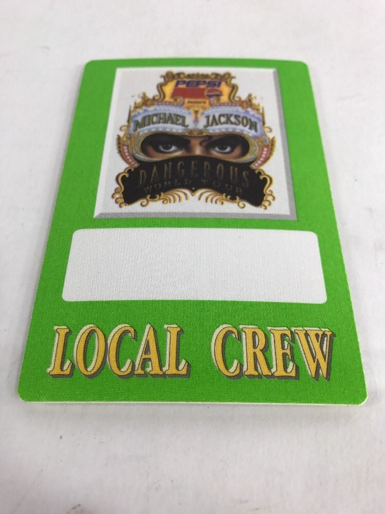 "MICHAEL JACKSON BACKSTAGE PASS ""DANGEROUS WORLD TOUR"" LOCAL CREW - Odd MoFo"