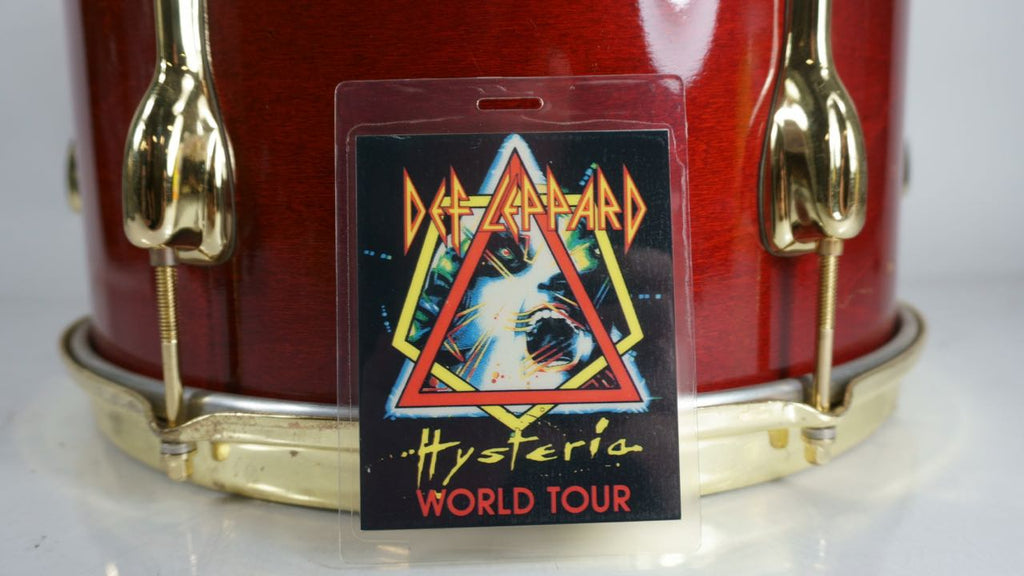 Def Leppard Hysteria World Tour Backstage Pass Laminate - Odd MoFo