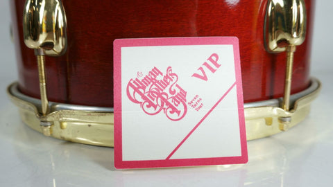 Rare Allman Brothers Band VIP Pass Seven Turns Tour 1990