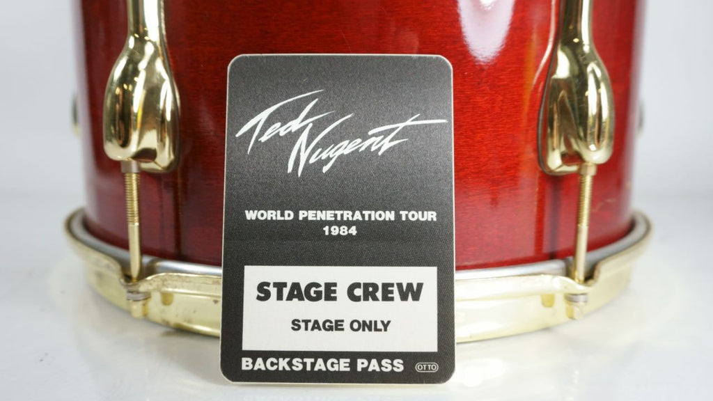 "Ted Nugent 1984 ""World Penetration Tour"" Backstage Pass Stage Crew"