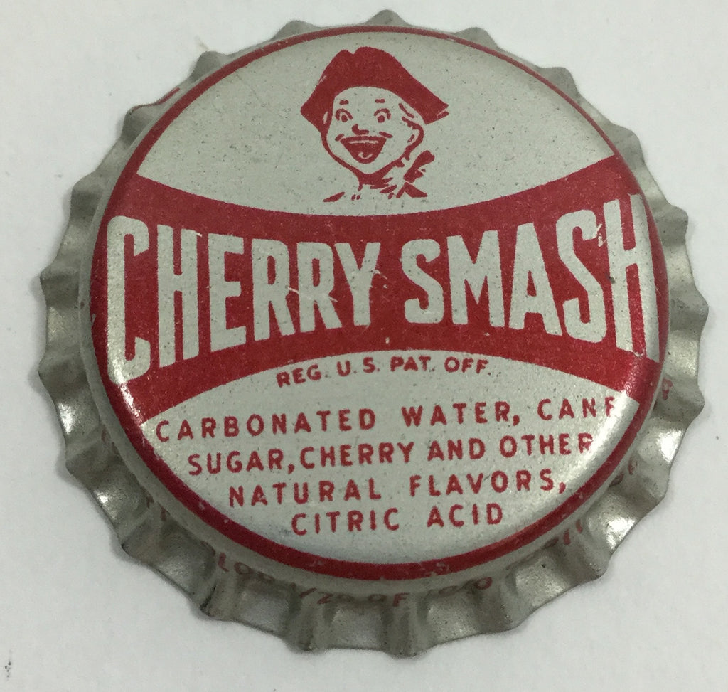 Vintage Cherry Smash Soda Bottle Cap Magnet