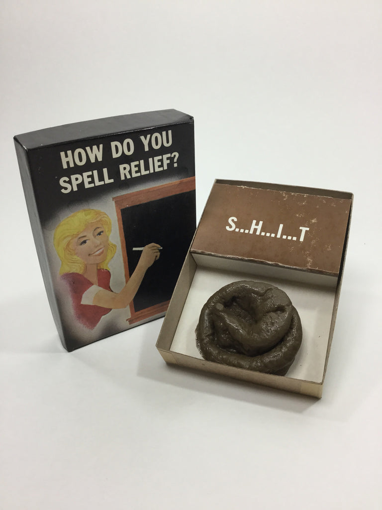 "Novelty ""How Do You Spell Relief?"" Box of S...H...I...T - Odd MoFo"