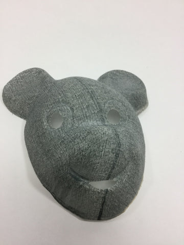 Vintage Gauze Micky Mouse Halloween Mask Grey